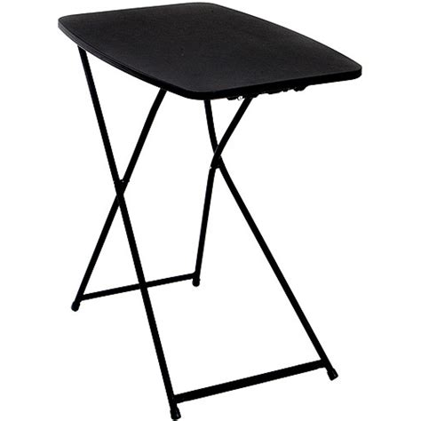 fold in half folding table mainstays 6 fold in half table black walmart folding snack