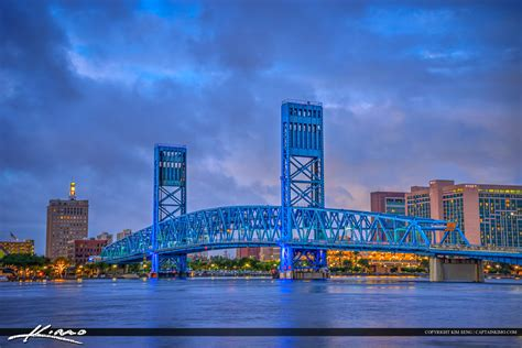 jacksonville skyline florida main street bridge night