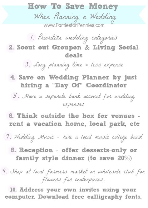 How To Save Money On A Wedding by How To Save Money When Planning A Wedding For
