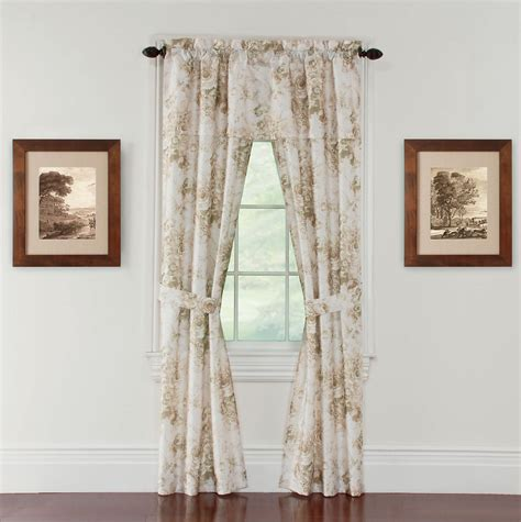 amore 54x84 window set with attached valance kmartcom tuscany 54x84 quot window set