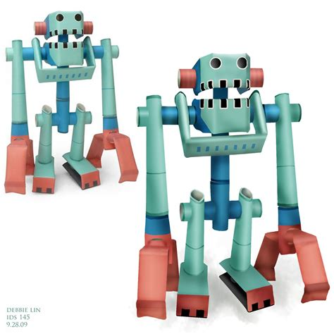 How To Make A Paper Robot That - piperoids paper robots