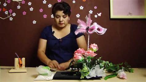 arreglos de flores para 15 aos 161 arreglo xv a 241 os parte 2 elegante centro de mesa youtube