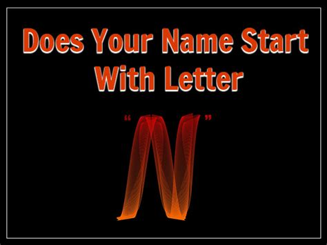 Names With The Letter N