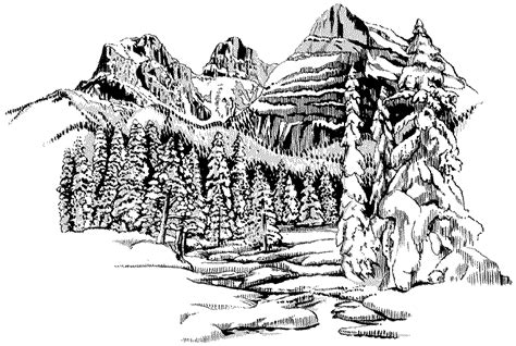 landscape coloring books for adults free coloring pages of landscape