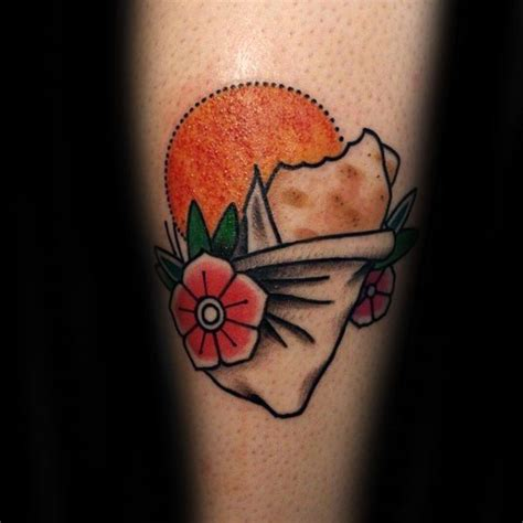 burrito tattoo 20 burrito designs for food ink ideas