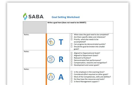 Employee Goal Setting Template Resources Smart Goals Template For Employees