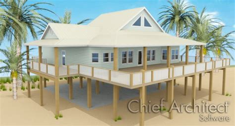 Florida Cracker Style House Plans creating an elevated structure on pilings