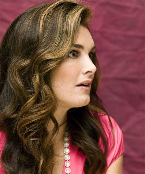 Brooke Shields Long Wavy Formal Hairstyle