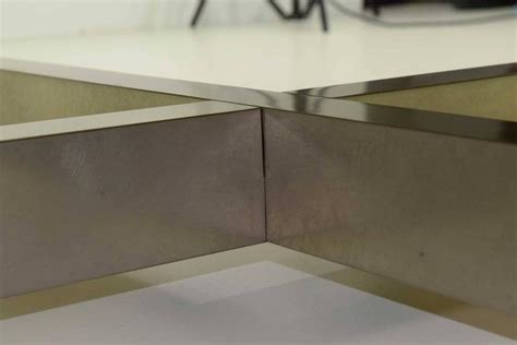 custom metal coffee tables large custom wood and metal coffee table for sale at 1stdibs