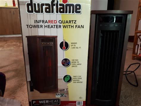 duraflame infrared space heater  sq ft  sale