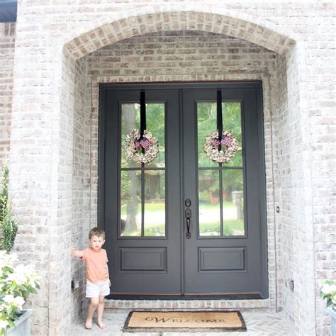 painted front door wrought iron favorite paint colors benjamin moore