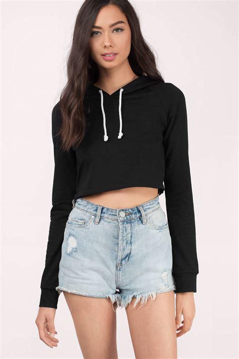 So Crop Hoodie Jaket black hoodie black hoodie oversized hoodie 58 tobi us