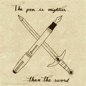 pen is mightier than sword essay the pen is mightier than the sword by ticoun on deviantart