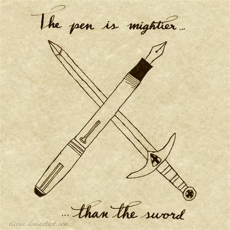 Pen Is Mightier Than Sword Essay by The Pen Is Mightier Than The Sword By Ticoun On Deviantart
