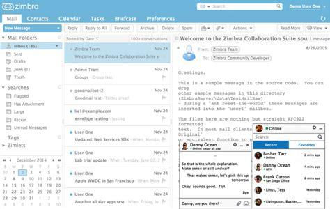 tutorial servidor de email zimbra zimbra algunas caracter 237 sticas que te gustar 225 n de zimbra