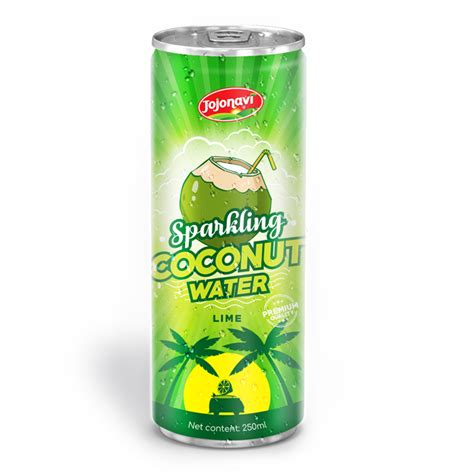 Coconut 60 Ml Original 250 ml canned sparkling water manufacturer original coconut water with lime juice leading