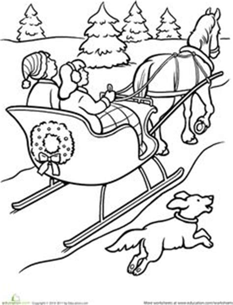 horse sleigh coloring page 1000 images about worksheets on pinterest winter bucket