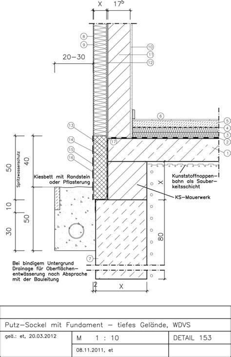 sockel zweischaliges mauerwerk 153 putz sockel mit fundament tiefes gel 228 nde wdvs avanet