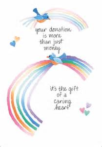 thank you cards for donations