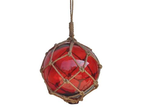 japanese glass buy red japanese glass ball fishing float with brown