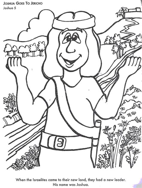 Joshua Goes To Jericho Colouring Pages Entering And