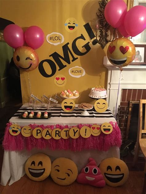 themes for 13th girl birthday parties best 25 birthday emoji ideas on pinterest party emoji