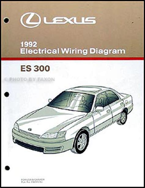 service manuals schematics 1992 lexus es head up display 1992 lexus es 300 repair shop manual original 2 volume set
