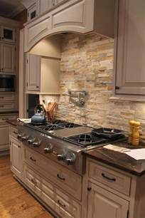 limestone kitchen backsplash 29 cool stone and rock kitchen backsplashes that wow