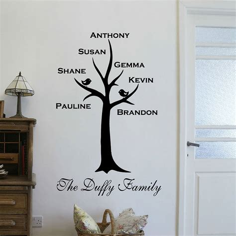 wall stickers family tree personalised family tree wall sticker by wall quotes designs by gemma duffy