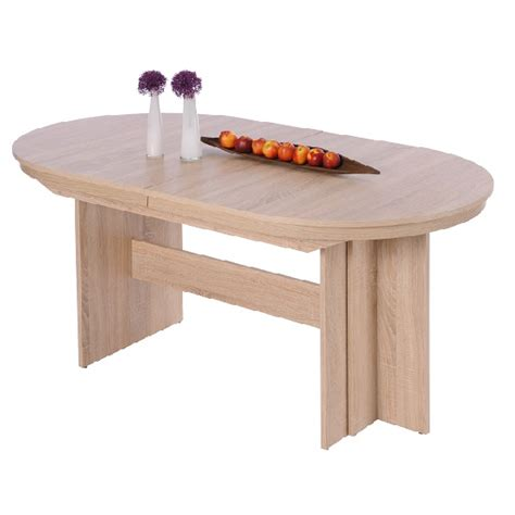 sonoma oak dining table extendable wooden dining table oval in sonoma oak