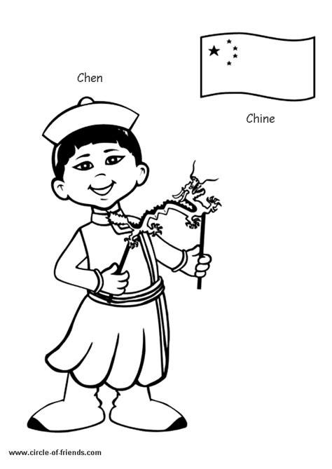 russian boy coloring page coloriage enfant chine sur hugolescargot com