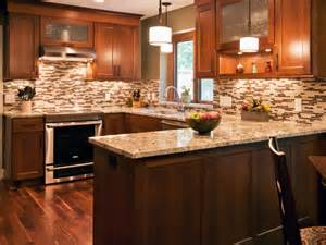 Kitchen Backsplash Tile Designs Kitchen Kitchen Remodeling Idea With U Shaped Mahogany