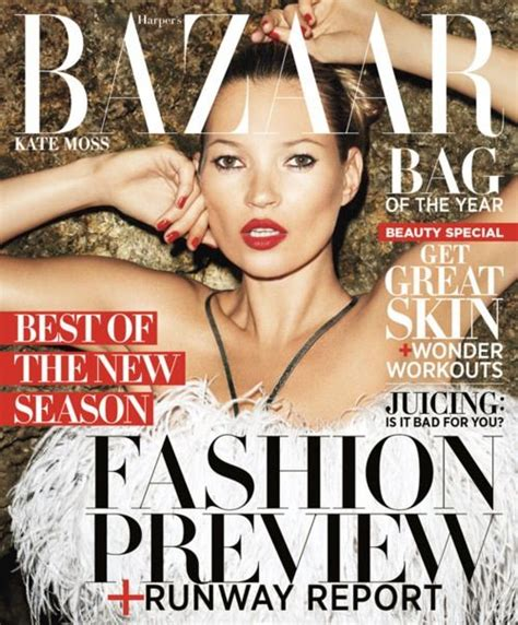 Kate Turns For Us Harpers Bazaar by Kate Moss S Bazaar Us Inspiration