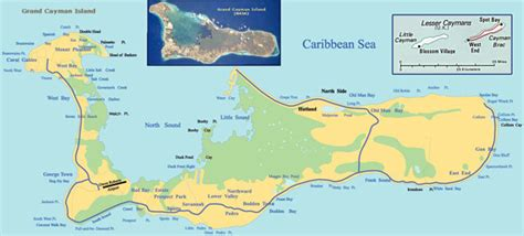 printable map grand cayman island large detailed road and topographical map of grand cayman