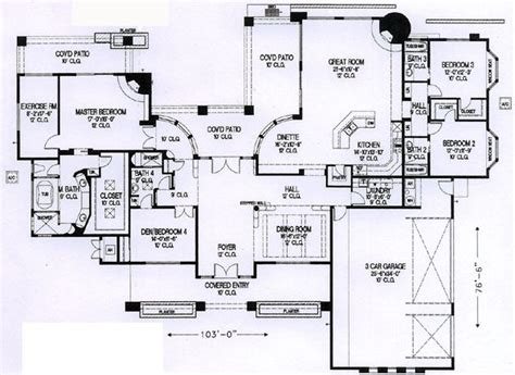Santa Fe Style House Plans by Santa Fe Southwest House Plan 54700