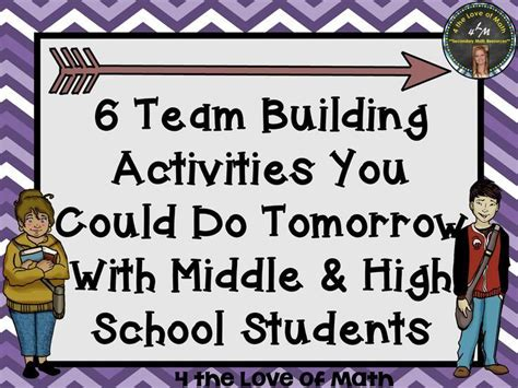 team building challenges for students 1000 ideas about middle school on