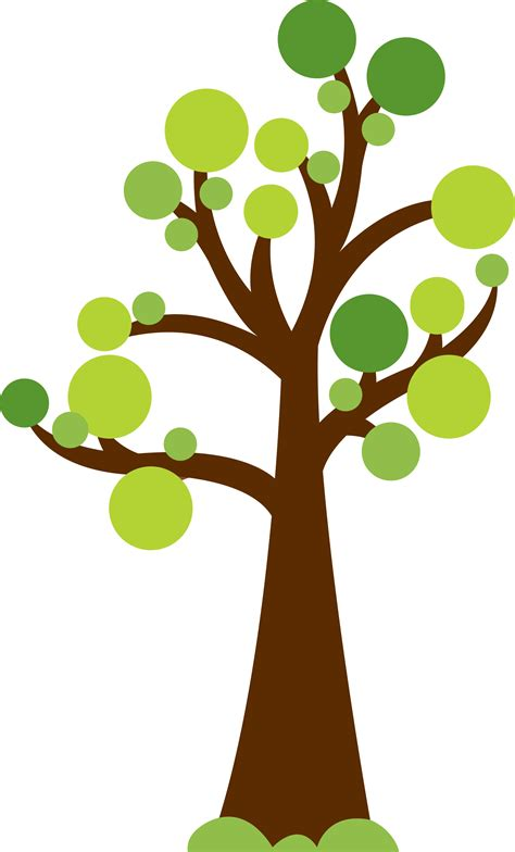 cute trees tree with circles for leaves cute image for summer or
