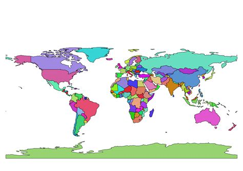 simple world map image clipart multi color simple world map