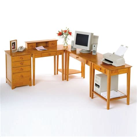 home office contemporary l shape computer desk in pine