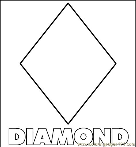 coloring pages diamond shape education gt shapes free