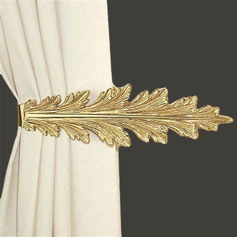 curtain tie back holder vintage pair curtain tie back holder fern leaf bright brass