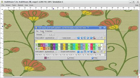 fabric pattern layout software fil coupe fabric with arahne textile design software youtube