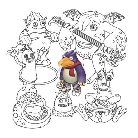 my singing monsters coloring pages my singing monsters coloring book big blue