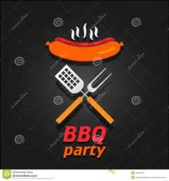 bbq party invitation vector illustration poster stock