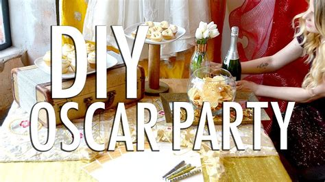 home decor inspired by the oscars places in the home diy oscar party youtube