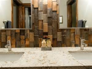 reclaimed wood kitchen backsplash home design ideas