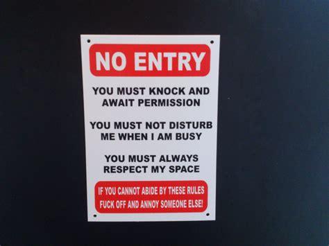 Bedroom Door Signs funny no entry sign don t disturb teenagers bedroom