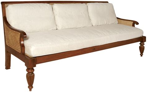 sofa british british colonial imports handcrafted for the