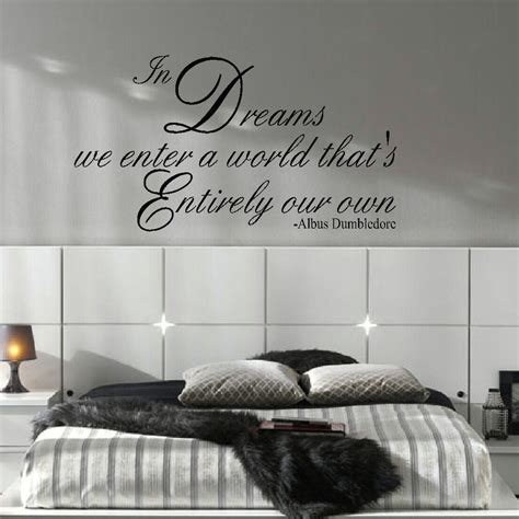 harry potter wall stickers large harry potter quote dreams enter own world wall decal