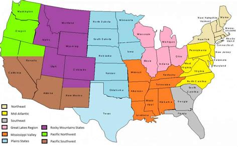 united states map divided into 5 regions map us regions holidaymapq